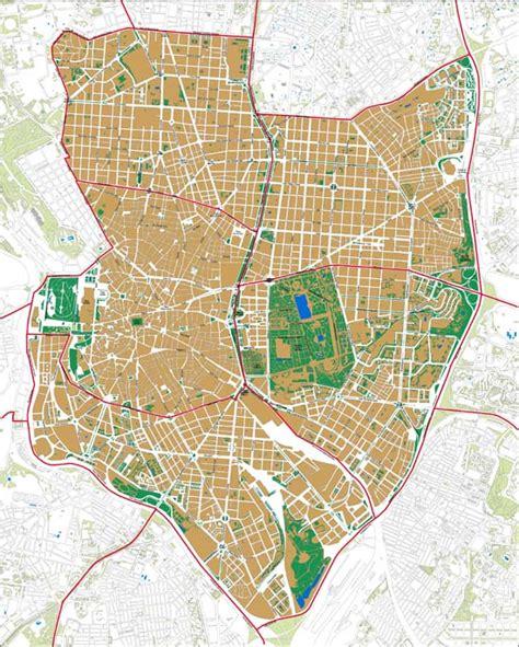 Madrid  mapa de distritos