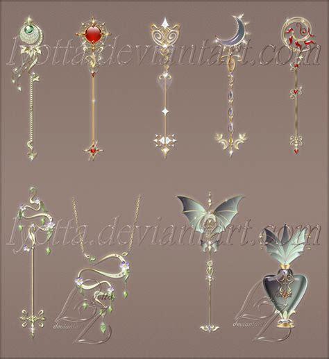 Magic keys and staffs by Lyotta on DeviantArt