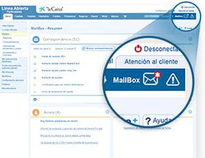 """MailBox   Banca a Distancia   """"la Caixa"""""""