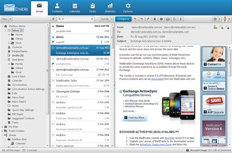 MailEnable Secure Webmail Client Summary