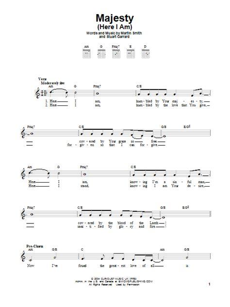 Majesty  Here I Am  | Sheet Music Direct