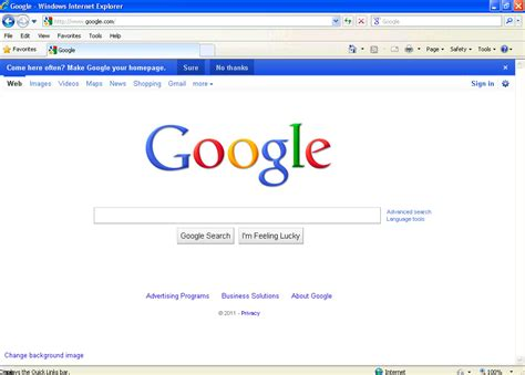 Make Google My Homepage How To Set Google As The Default ...