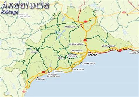 Malaga Carte de la ville - Carte Espagne Ville Région ...