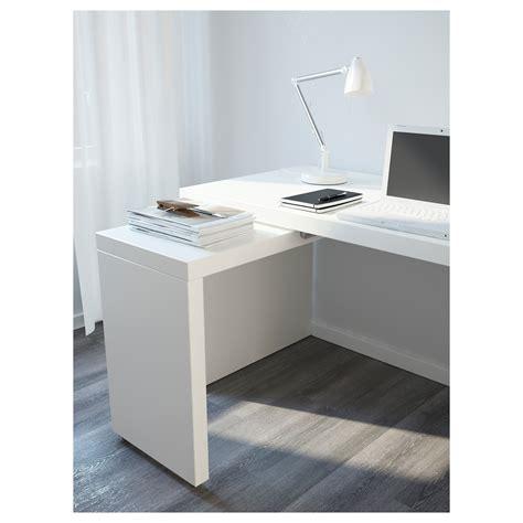 MALM Escritorio con tablero extraíble Blanco 151 x 65 cm ...