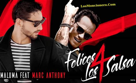 Maluma feat Marc Anthony   Felices Los 4 Version Salsa