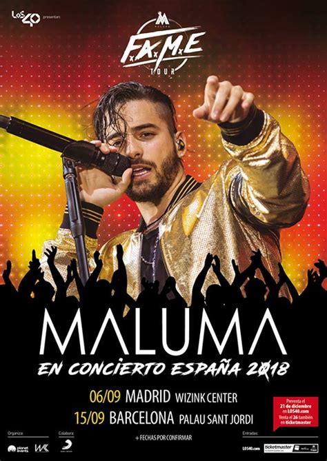 Maluma regresará a España en 2018 con su  F.A.M.E. Tour ...