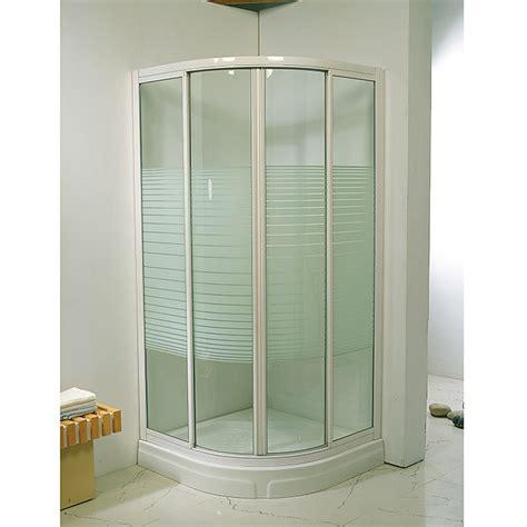 Mampara de ducha angular Ada  800 x 800 x 1.850 mm, Blanco ...