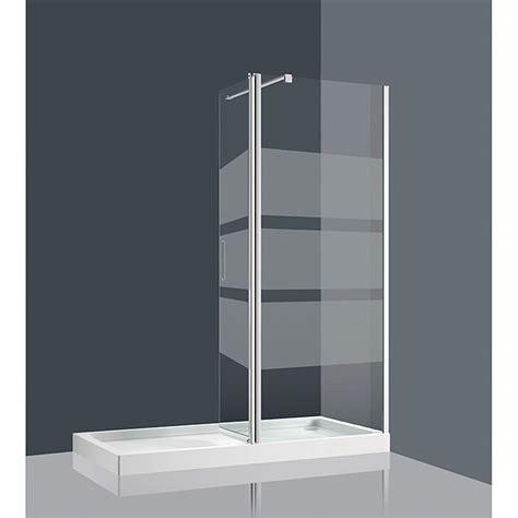 Mampara de ducha fija Jepri  1.150 x 1.900 mm, Cromo, 6 mm ...
