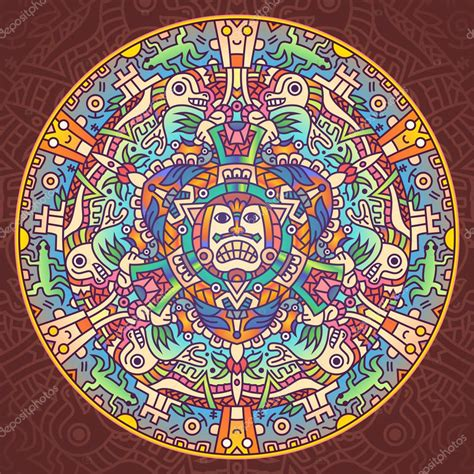 Mandala de la civilización Azteca — Archivo Imágenes ...