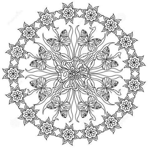 Mandalas de Mariposas para Imprimir y Pintar   Tatuajes y ...