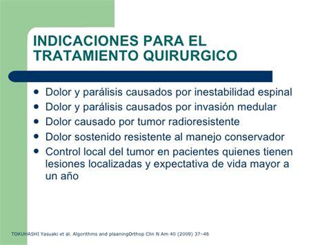 Manejo Quirurgico De Las Metastasis Espinales