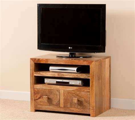 Mango Indian Wood Small TV Stand | 32  TV Unit | Casa ...