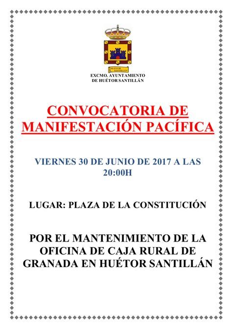 manifestación – Huétor Santillán