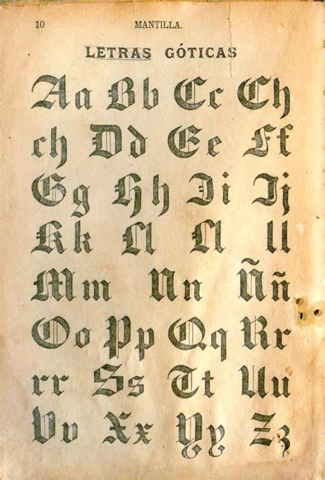 Mantilla. Libro de lectura No.1. Letras Góticas.   a photo ...