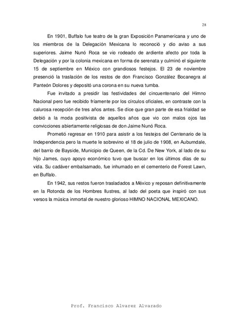 Manual para trabajar el himno nacional mexicano