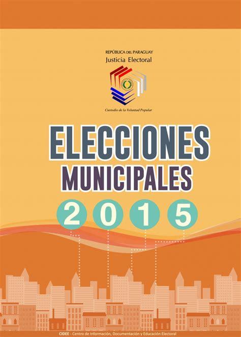 Manuales Elecciones Municipales 2015 - Justicia Electoral ...