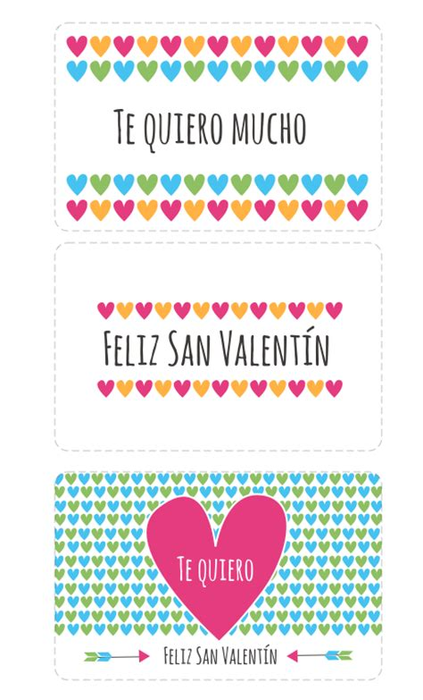 Manualidades: Tarjetas de San Valentin para imprimir