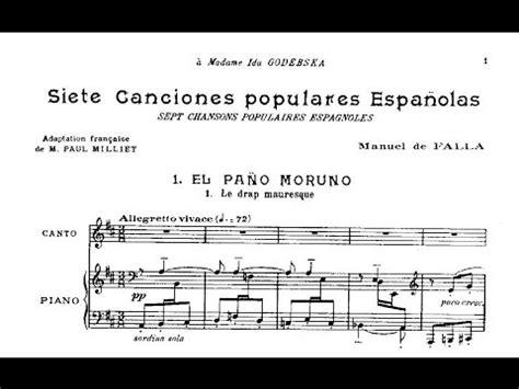 Manuel de Falla: Siete canciones populares españolas  1914 ...