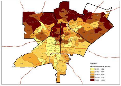 Map based Atlanta zip code study