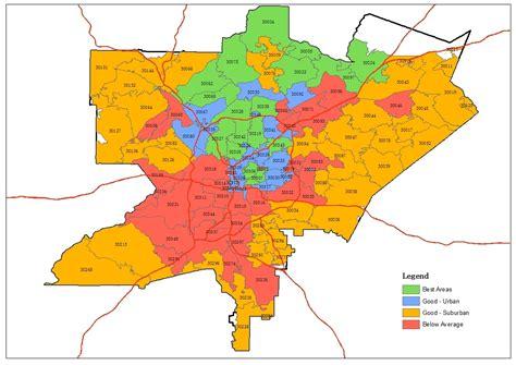 Map Of Atlanta Zip Codes | afputra.com