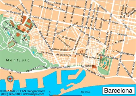 Map of Barcelona map for planning your holiday in ...