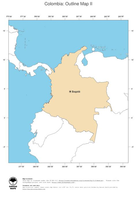 Map Of Colombia South America - roundtripticket.me