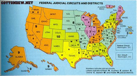 Map of Federal Courts – A New Century of Forest Planning