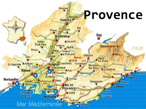 Map of france Provence » Travel