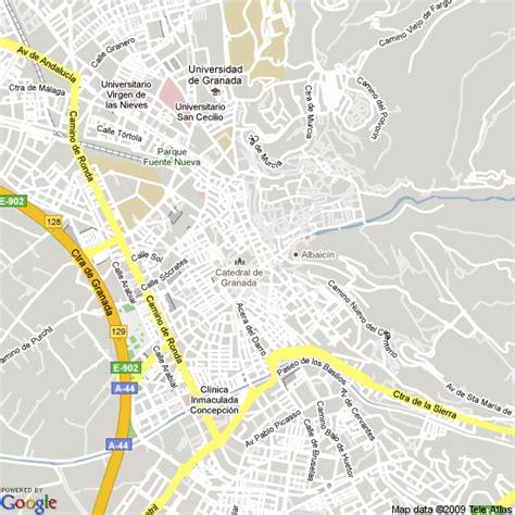 Map of Granada, Spain | Hotels Accommodation