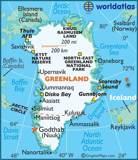 Map of Greenland - Greenland Map, Map Greenland ...
