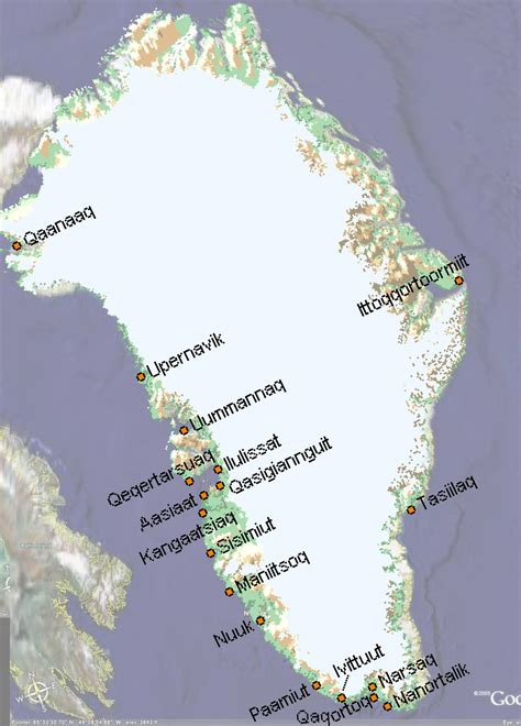 Map of Greenland, Greenland Maps - Mapsof.net