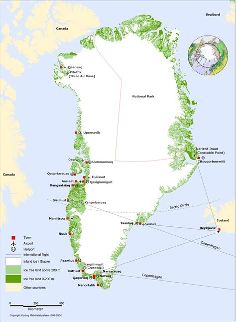Map of Greenland - Nations Online Project