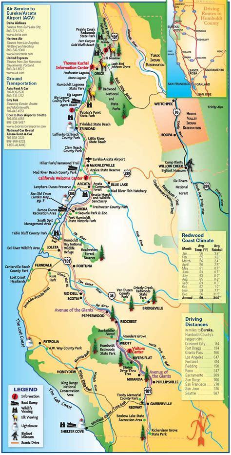 Map of Humboldt County | Film Humboldt Del Norte