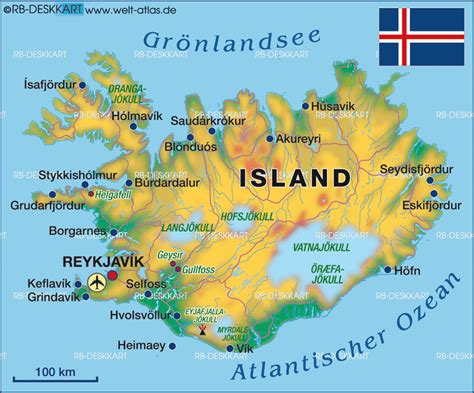 Map of Iceland  Country  | Welt Atlas.de