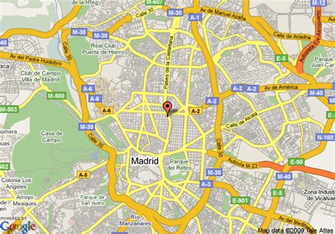 Map of Intercontinental Madrid, Madrid