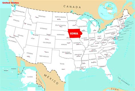 Map of Iowa | State Map of USA