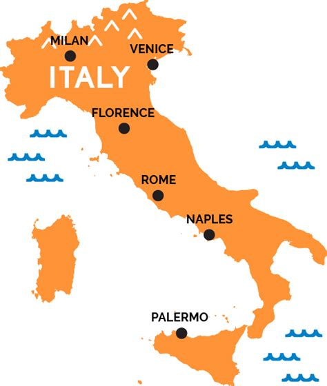 Map of Italy   RailPass.com