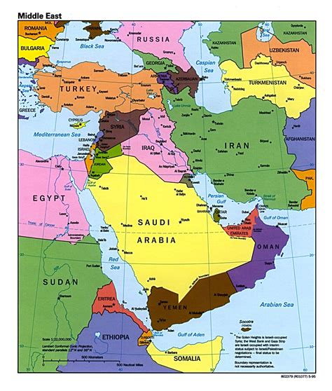 Map of Middle East Countries Involved in the War of Gog ...