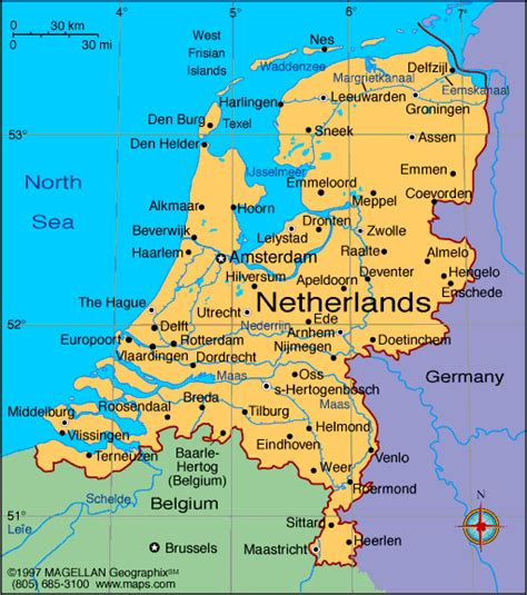 Map of Netherlands, Holland, Nederland Cities Pictures