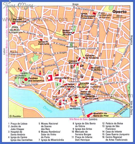 Map of Porto Portugal - ToursMaps.com
