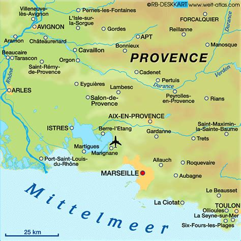 Map of #Provence region of France | Provence, France ...
