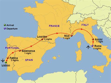 MAP OF SPAIN AND ITALY - Imsa Kolese