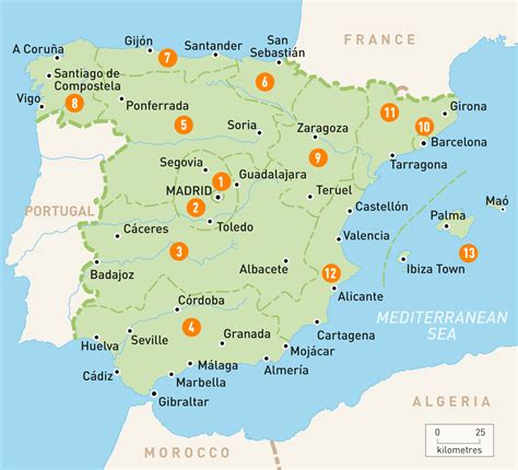 Map of Spain | Spain Regions | Rough Guides