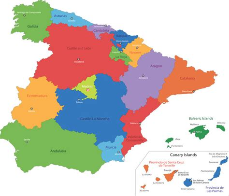 Map of Spain | Španielsko | Pinterest | Spain, Map icons ...