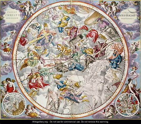 Map of the Christian Constellations as depicted by Julius ...