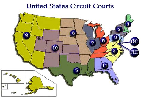 Map of the Federal Circuit Courts