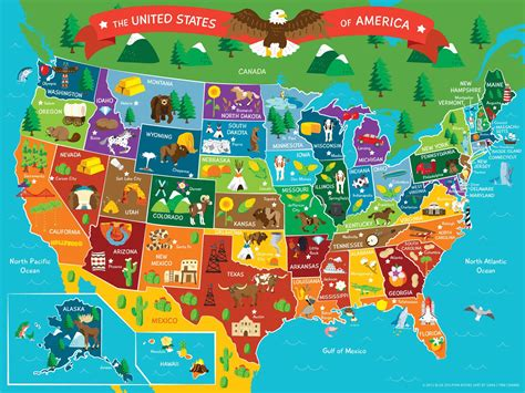 Map of the United States of America, Map, vector ...