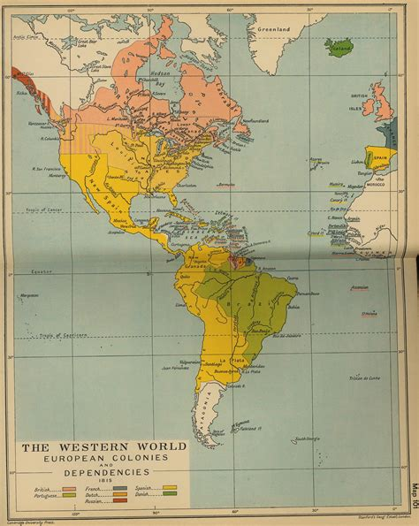Map of the Western World 1815