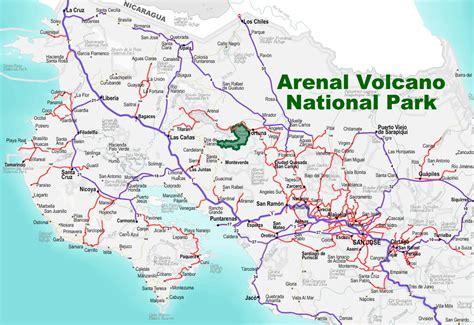Map Of Volcanoes In Costa Rica | MAP