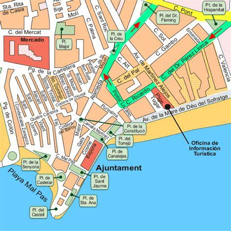 Map showing location of Aitena, Benidorm